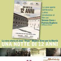 MANIFESTO Proiezione Una notte di 12 anni - Fano, lunedì 4 febbraio ore 20.45